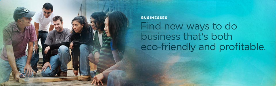 Business: Find new ways to do business that's both eco-friendly and profitable